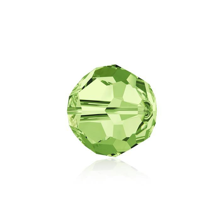 Swarovski Crystal Beads - Pack of 6 Round 5000 - 8mm Peridot