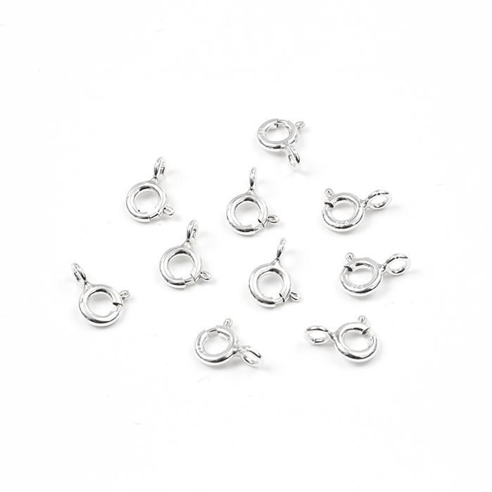 Sterling Silver Bolt Ring Clasp - 5mm (10pcs)
