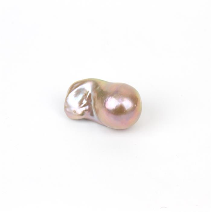 Champagne Freshwater Cultured Pearl Baroque (Half Drilled) Approx 16x25-18x30mm, 1pc