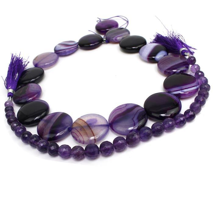 The Colours OF Purple! Amethyst and Agate