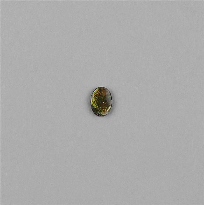 0.75cts Ammolite Oval Cabochon 8x6mm.