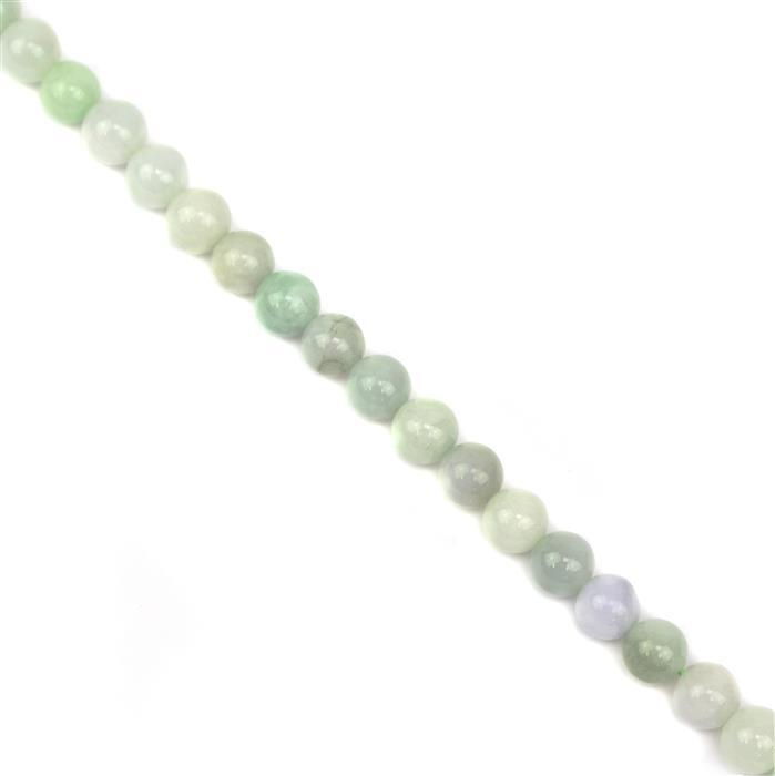 210cts Jadeite Plain Rounds Approx 8mm, Approx 38cm Strand