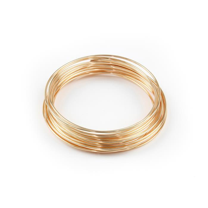 Champagne Gold Coloured Silver Plated Copper Wire - 1.2mm (3m)