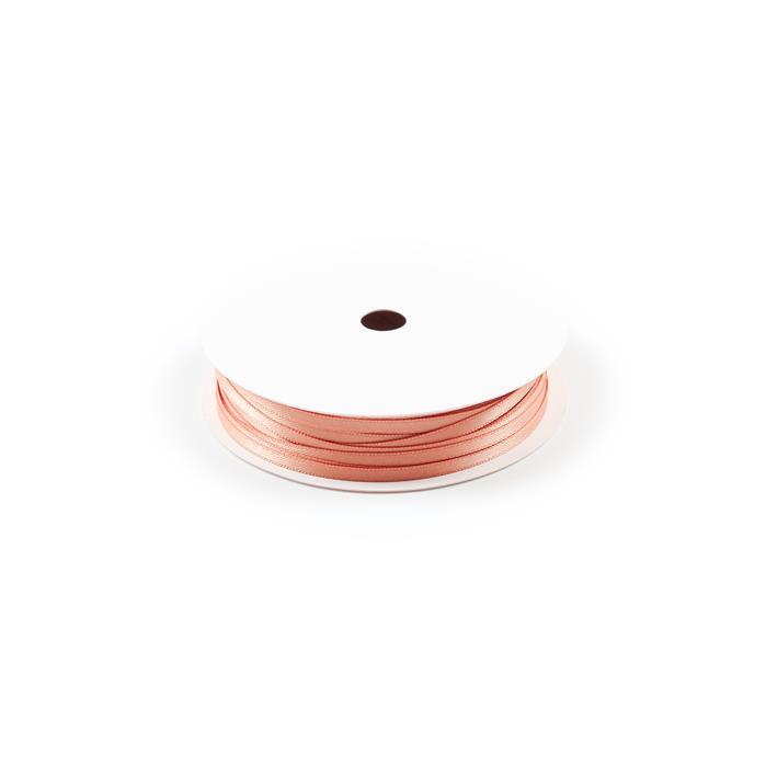 20m Petal Peach Double Faced Satin Width Approx 3.2mm