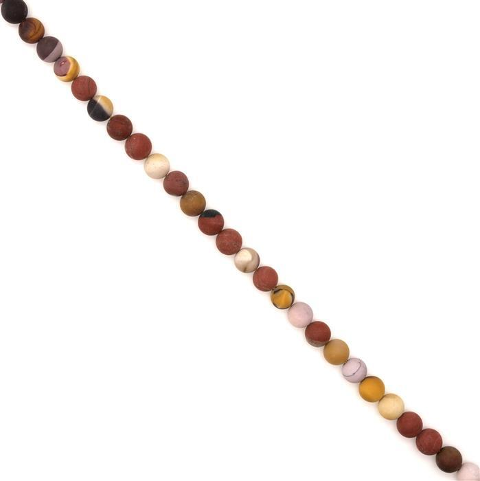 250cts Mookite Frosted Plain Rounds, Approx 10mm, 38cm strand