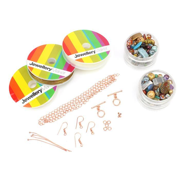 Mix it up; Glass Bead Scoop Multicolour Approx 2 x 100g, Findings & Threading Pack