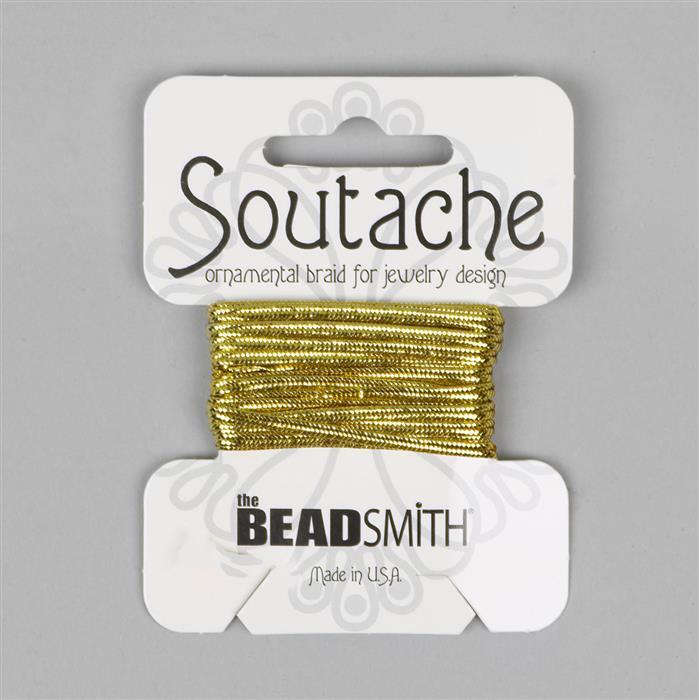 Rayon Soutache Gold 3 Yards 3mm