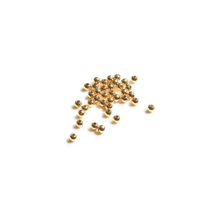 Gold Plated 925 Sterling Silver Spacer Beads - 2mm (40pcs/pk)