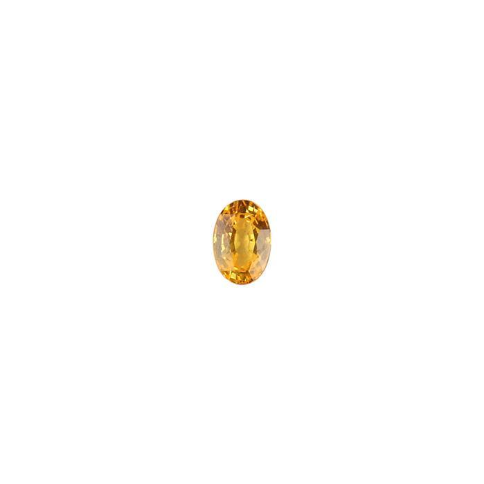 0.50cts Yellow Sapphire Brilliant Cut Oval 6x4mm.