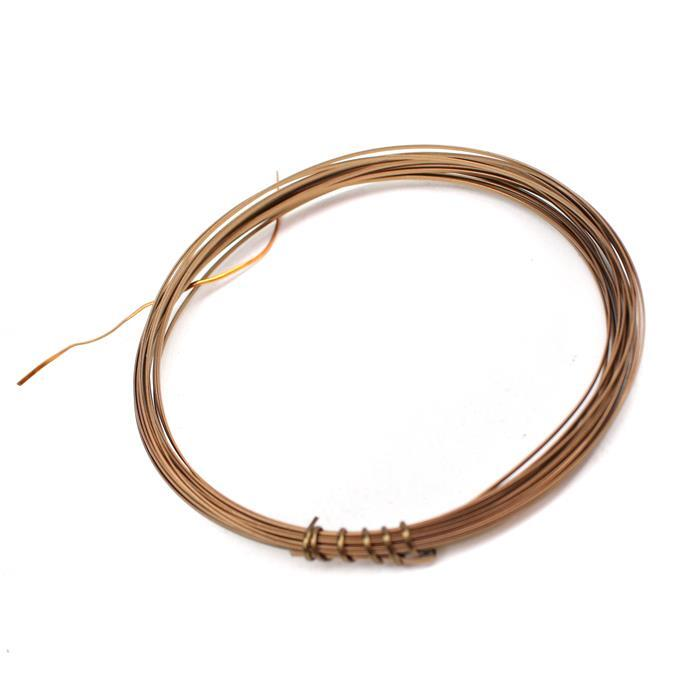 Antique Bronze Coloured Copper Half Round Wire - 0.6mm (3m)