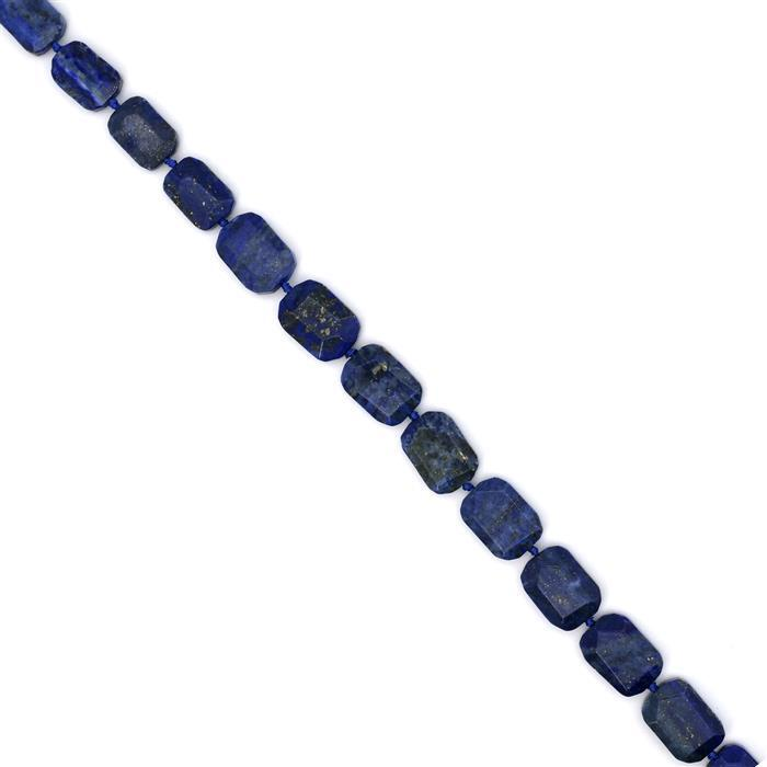 400ct Lapis Lazuli Faceted Slabs Approx 13x18-16x22mm 38cm
