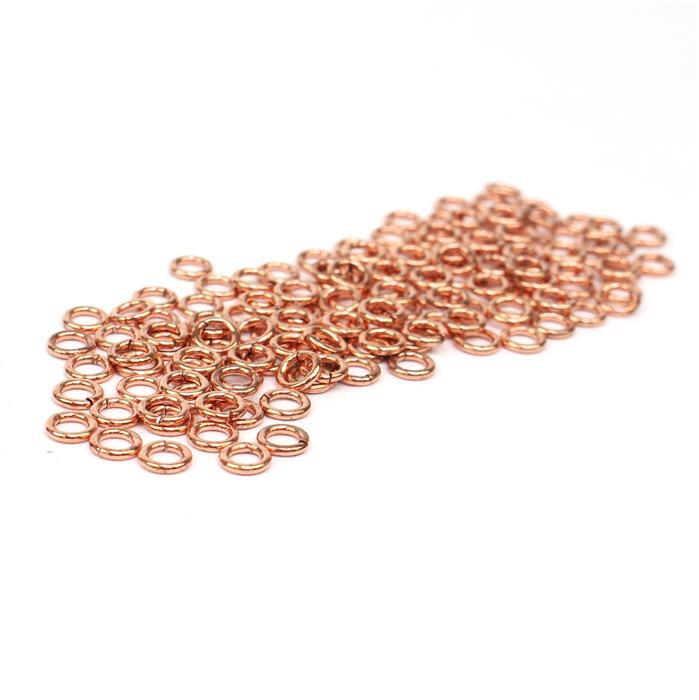Bare Copper Open Jump Rings ID Approx 3mm. (Approx 200pcs)