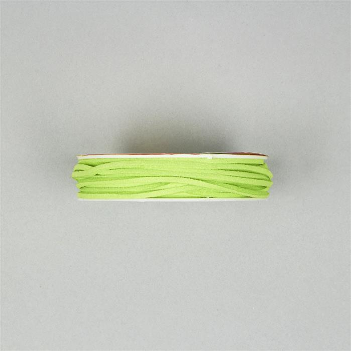 5m Lime Green Suedette Cord 1.8mm