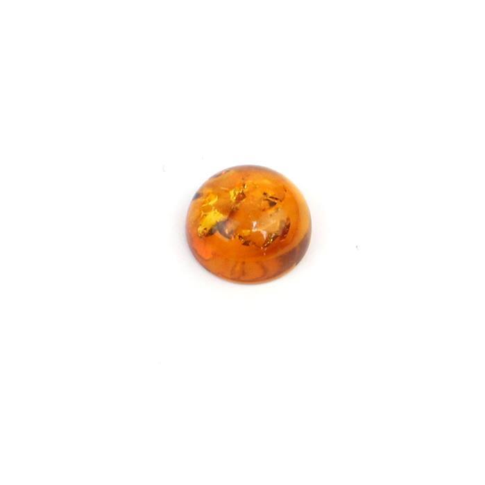 Baltic Cognac Amber Round Cabochon  12mm