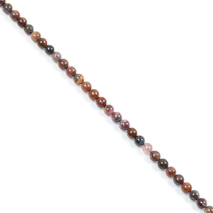 90cts Pietersite Plain Rounds Approx 6mm 38cm strand