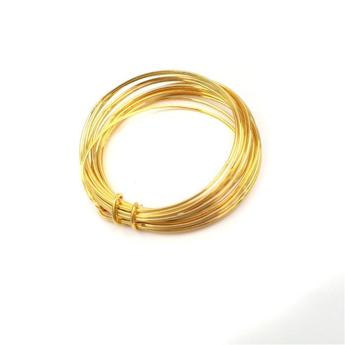 3m Gold Coloured Copper Square Wire Approx 1.00mm