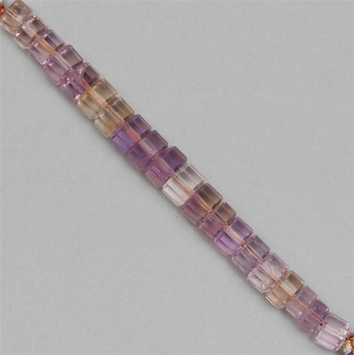 58cts Amethyst & Citrine The Passo Collection Approx 5x3 to 8x5mm, 8cm Strand.