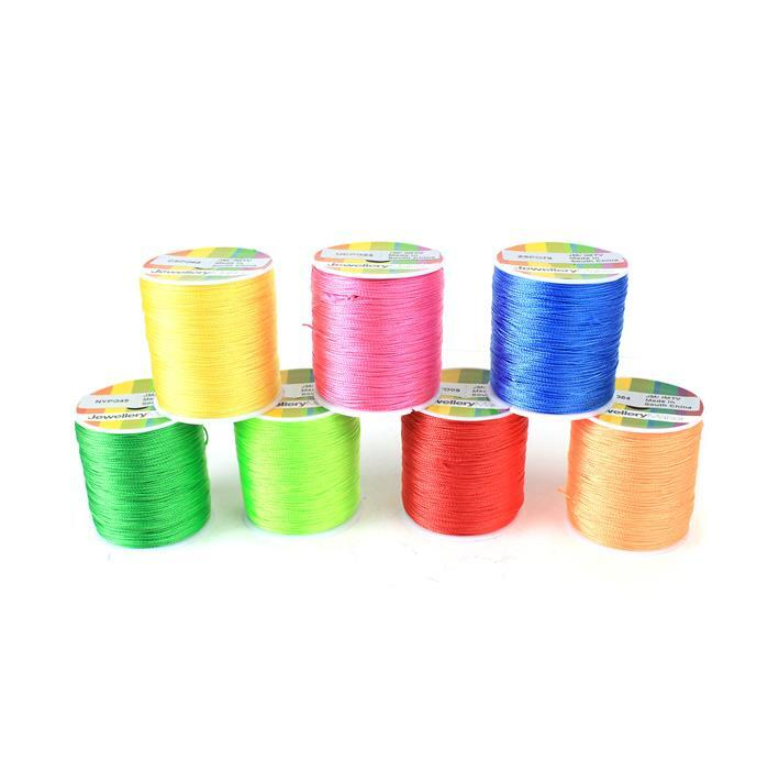 The Neon 0.8mm Collection Inc. 7x 200m Neon Nylon 0.8mm Thread