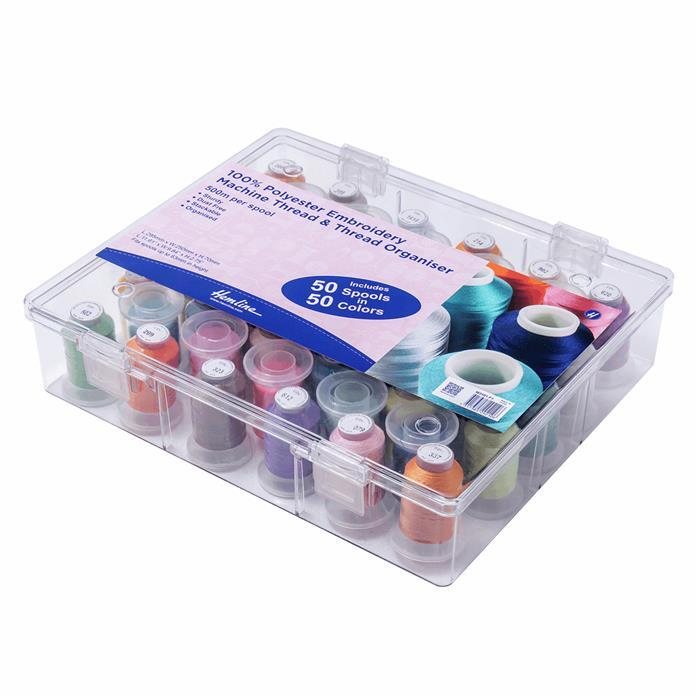 Thread Box & Storage Organiser: Filled with Polyester Machine Embroidery Thread