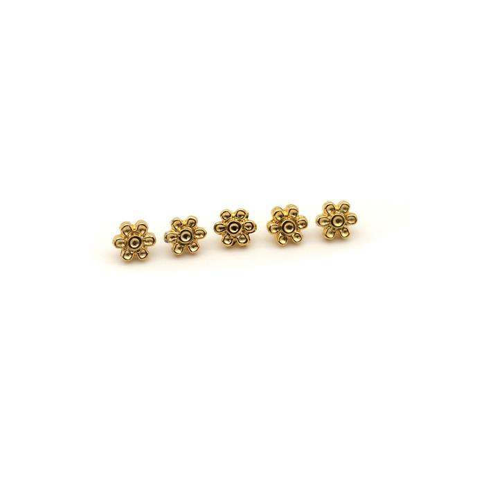 Cymbal Amoudi 8/0 Bead Sub 24K Gold Plated (5pk)