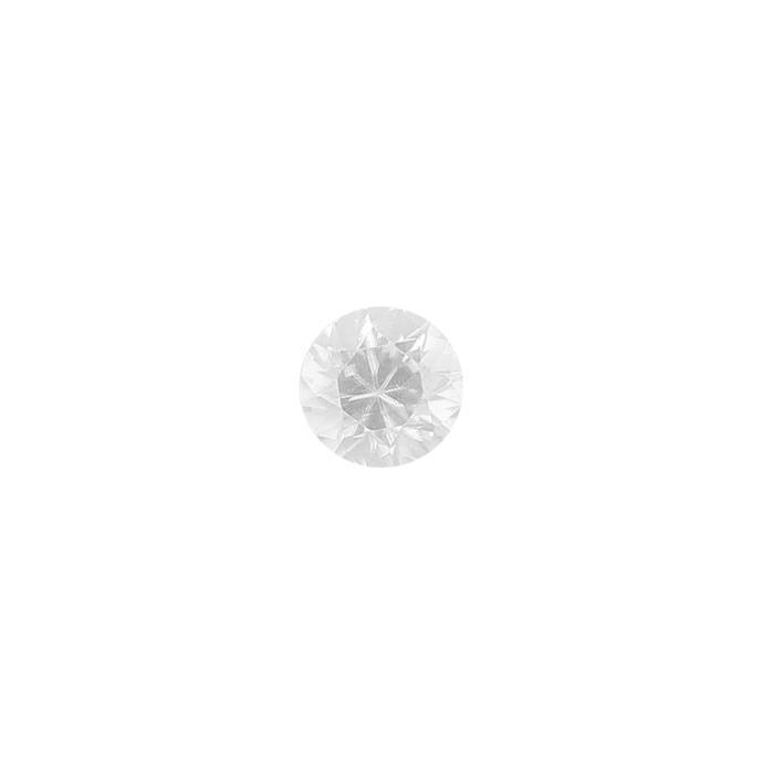 1ct White Zircon Brilliant Cut Round Approx 6mm.
