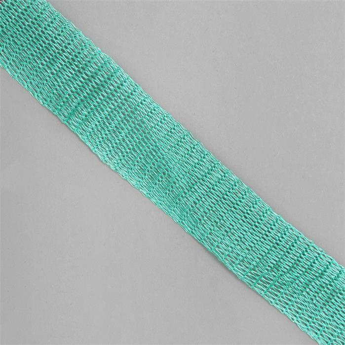 1m Aqua Blue Brass Wire Mesh 18mm