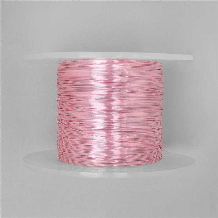 100m Pink Coloured Copper Wire 0.4mm