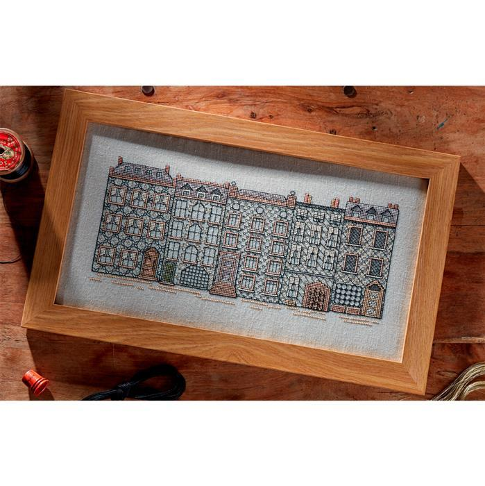 Blackwork Street by Jane Greenoff. 30.5 x 14cm (12 x 5.5ins)