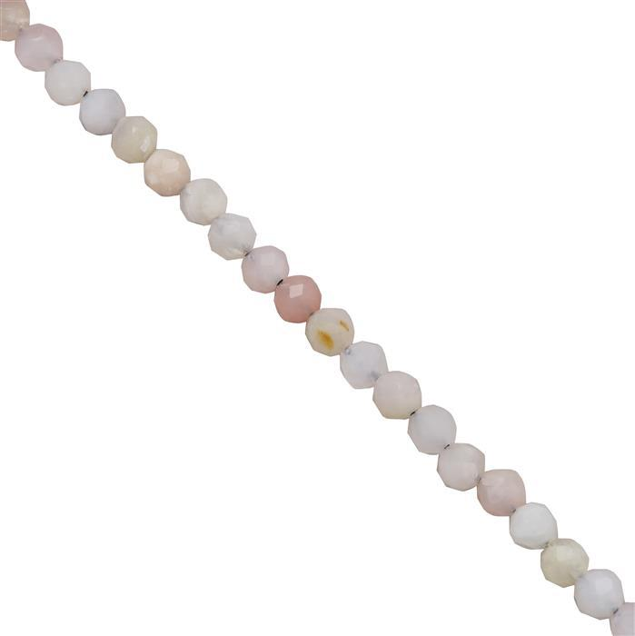12cts Pink Opal Faceted Rounds Approx 2.4mm 38cm Strand