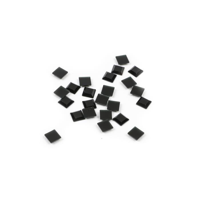 Swarovski Square Base Flat Back 2402 Jet 4mm 24pk