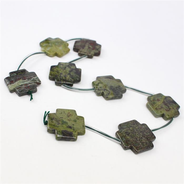 250cts Dragon Blood Jasper Fancy Cross 8pcs, Approx 25mm,20cm