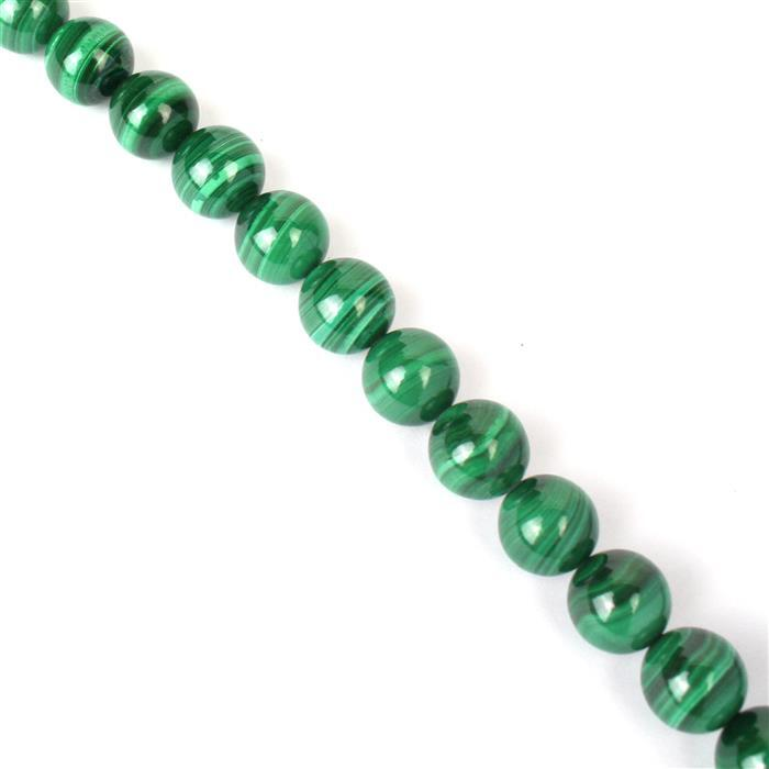 390cts Malachite Plain Rounds Approx 10mm 38cm