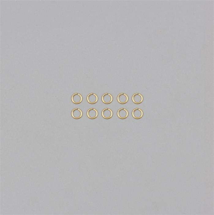 9ct Gold Open Jump Rings 0.80mm Gauge Approx 5.0mm (10pcs/pack)