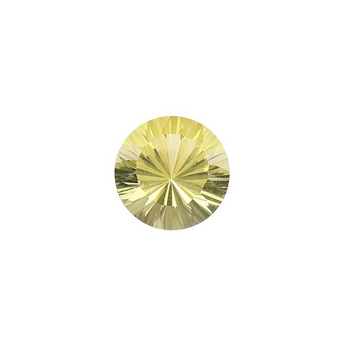 7.80cts Lemon Quartz Concave Cut Round 14mm.