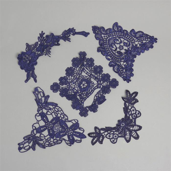 Navy Blue Lace inc Swag Designs (5pcs)