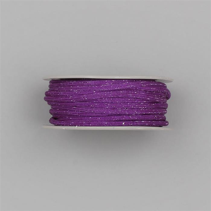 10m Silver Colour Zari Mix Purple Colour Nylon Rope Approx 3mm
