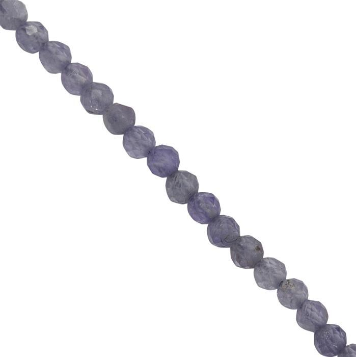 5cts Tanzanite Micro Faceted Round Approx 1mm to 1.5mm, 30cm Strand