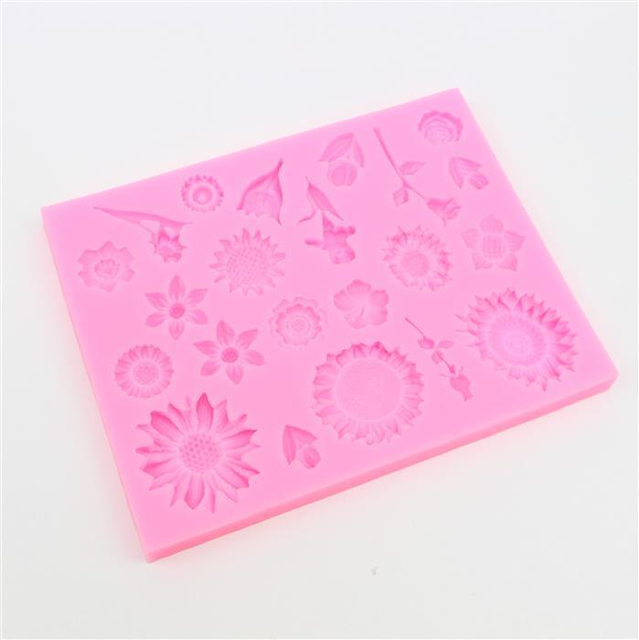Flower Silicone Mould Approx 136x106x9mm