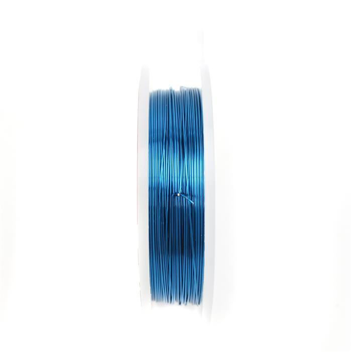 10m Silver Plated Sapphire Blue Wire 0.4mm