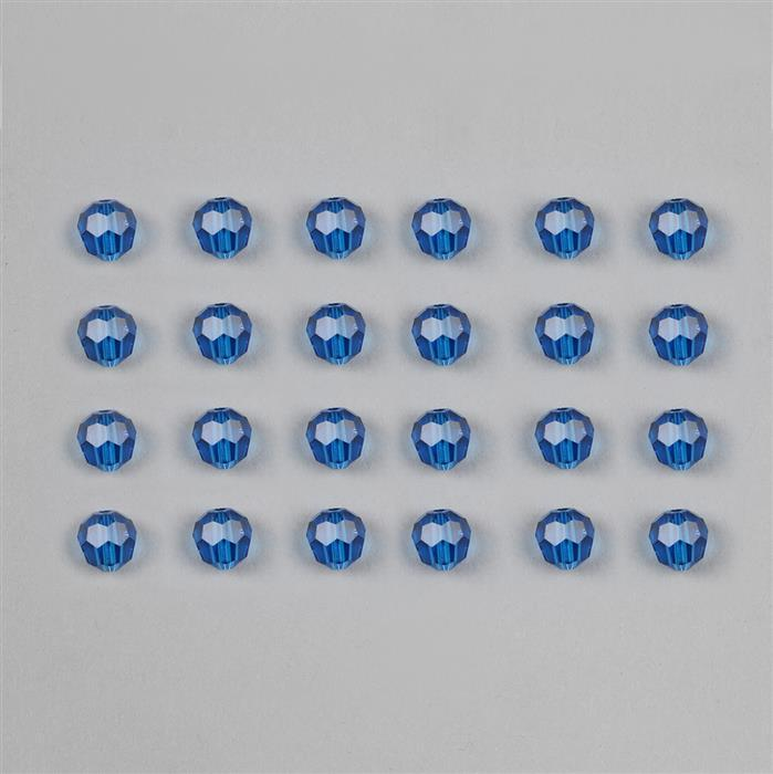 Capri Blue Swarovski Round Beads 6mm 5000  24pk