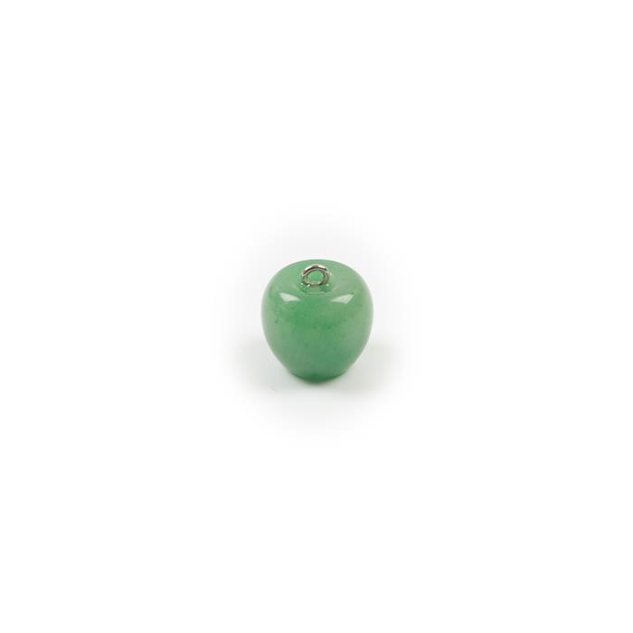 50cts Green Aventurine Apple Pendant Approx 20x18mm