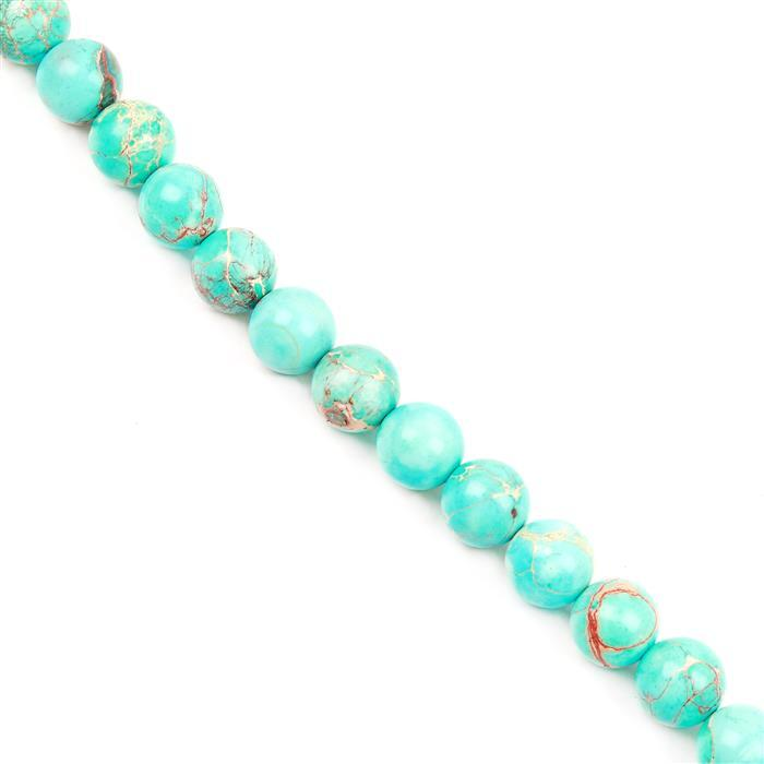 190cts Turquoise Green Variscite Plain Rounds Approx 10mm 38cm