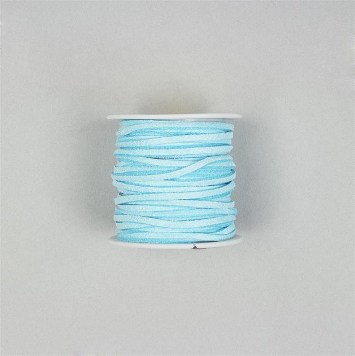 5m Baby Blue Suedette Cord 2.5mm