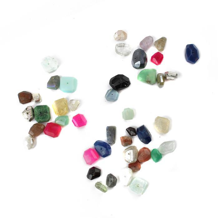 Multi Gemstone Selection Pack; 3 x 158cts Multi Gemstone Faceted Nuggets Assortment.