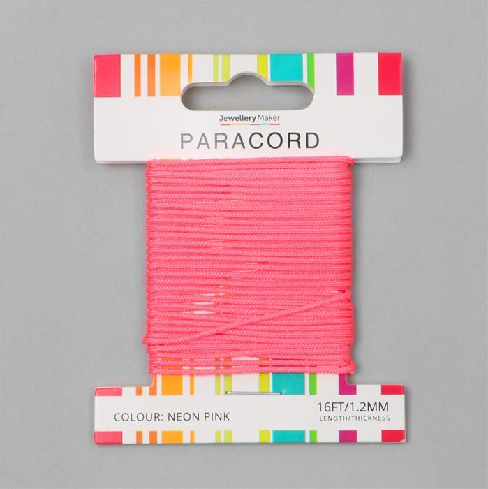 Neon Pink Paracord 16ft 1.2mm
