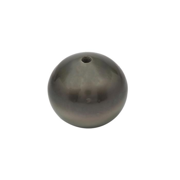 Silver Tahitian Cultured Pearl Oval Fully Drilled Approx 13x10mm (1pc)