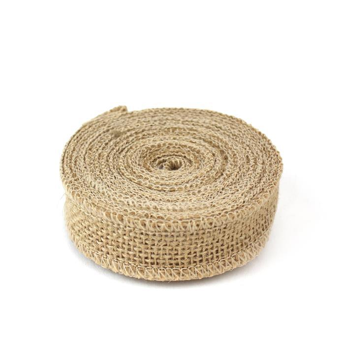Plain Hessian Ribbon, Width Approx 25mm (5m Length)
