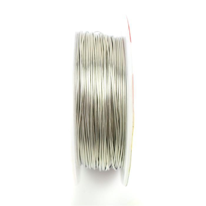 50m Silver Plated Copper Wire Approx 0.8mm
