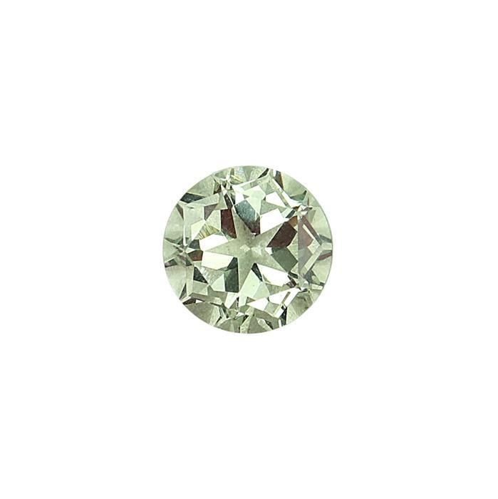 6cts Green Amethyst Lone Star Cut Round 12mm.