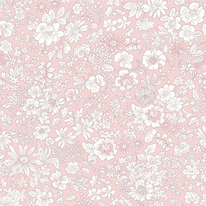Liberty Emily Silhouette Flower Rose Fabric from Flower Show Spring Range 0.5m